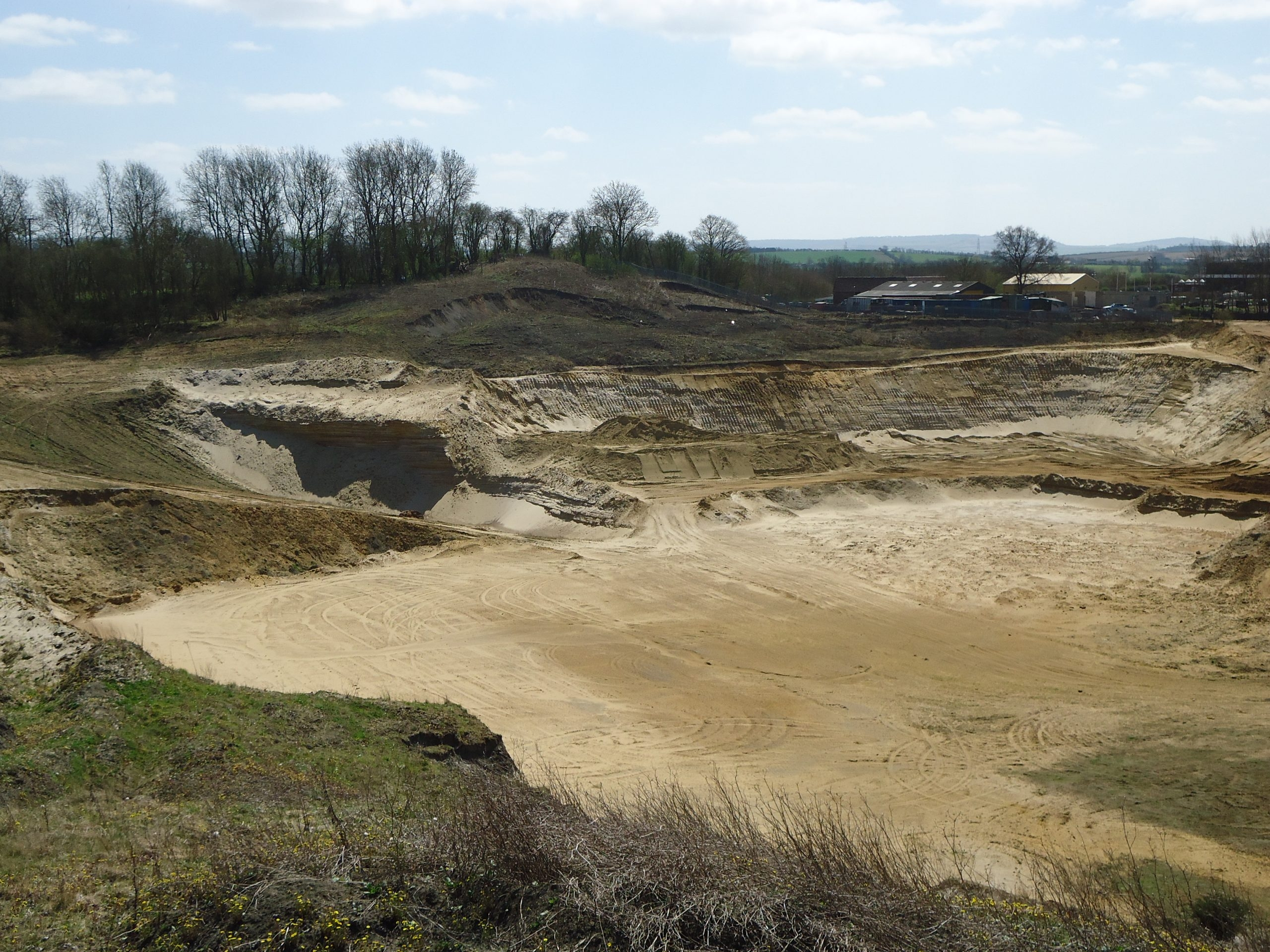 Nine Acres Quarry (from northern boundary, looking south east) – 2013