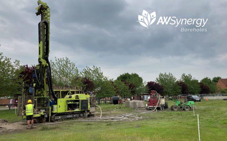 Geothermal installation at ST. Georges College, Weybridge